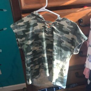 Army green top really cute only $4